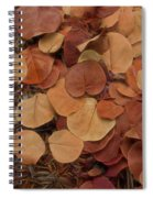 Artfully Scattered Sea Grape Leaves Spiral Notebook