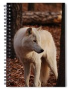 Artic Wolf Spiral Notebook