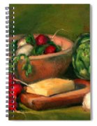 Artichoke And Radishes Spiral Notebook