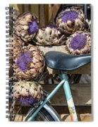Artichoke Flowers With Bicycle Spiral Notebook