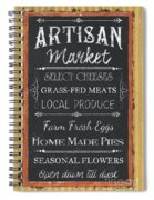 Artisan Market Sign Spiral Notebook