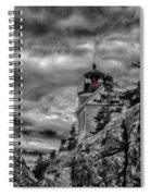 Artistic Bass Harbor Lighthouse In Acadia Spiral Notebook
