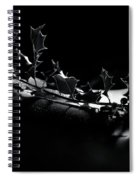 Artistic Nude Abstract Closeup Of A Thorny Holly Tree Branch On  Spiral Notebook