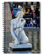 Artistic Statue That Has Gone To The Birds In Barcelona Spiral Notebook