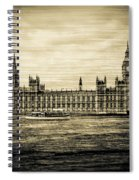 Artistic Vision Of Elizabeth Tower Big Ben And Westminster Spiral Notebook