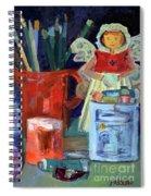 Artist's Angel Spiral Notebook