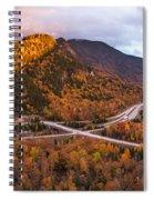 Artists Bluff Sunset Rainbow Spiral Notebook