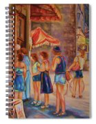 Artists Corner Rue St Jacques Spiral Notebook