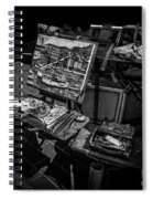 Artist's Easel At Street Market In Nice, France Spiral Notebook