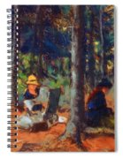 Artists In The Woods Spiral Notebook