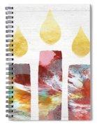 Artists Menorah- Art By Linda Woods Spiral Notebook