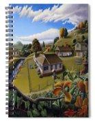 Appalachia Summer Farming Landscape - Appalachian Country Farm Life Scene - Rural Americana Spiral Notebook