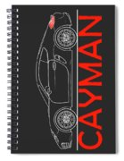 Porsche Cayman Phone Case Spiral Notebook