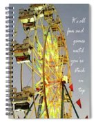Wheel Of Fortune With Phrase Spiral Notebook