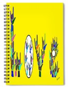 American Sign Language Love Hands Spiral Notebook