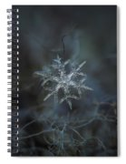 Snowflake Photo - Rigel Spiral Notebook