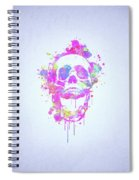 Cool And Trendy Pink Watercolor Skull Spiral Notebook