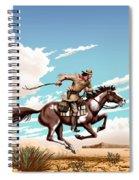 Pony Express Rider Historical Americana Painting Desert Scene Spiral Notebook