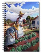 Family Vegetable Garden Farm Landscape - Gardening - Childhood Memories - Flashback - Homestead Spiral Notebook