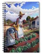 Family Vegetable Garden Farm Landscape - Gardening - Childhood Memories - Flashback - Homestead Spiral Notebook