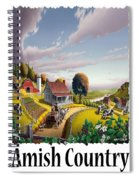 Amish Country - Appalachian Blackberry Patch Country Farm Landscape 2 Spiral Notebook