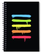 Trendy Cool Graffiti Tag Lines Spiral Notebook
