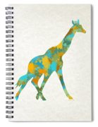 Giraffe Watercolor Art Spiral Notebook