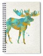 Moose Watercolor Art Spiral Notebook