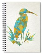 Heron Watercolor Art Spiral Notebook