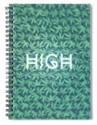 High Typo  Cannabis   Hemp  420  Marijuana   Pattern Spiral Notebook