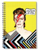 David Bowie Pop Art Spiral Notebook