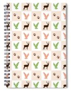 Rustic Wildlife Pattern Spiral Notebook
