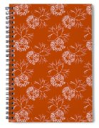 Orange Seaweed Marine Art Furcellaria Fastigiata Spiral Notebook