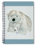 Cuddly Polar Bear Watercolor Spiral Notebook