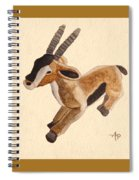 Cuddly Gazelle Watercolor Spiral Notebook