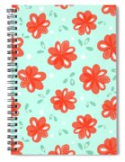 Cheerful Red Flowers Spiral Notebook