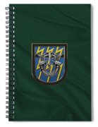 U. S.  Army 12th Special Forces Group - 12 S F G  Beret Flash Over Green Beret Felt Spiral Notebook