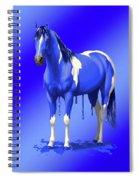 Royal Blue Wet Paint Horse Spiral Notebook