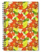 Fall Leaves Pattern Spiral Notebook