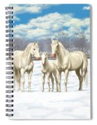 White Horses In Winter Pasture Spiral Notebook