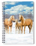 Palomino Horses In Winter Pasture Spiral Notebook