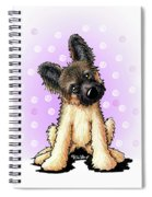 Kiniart Shepherd Puppy Spiral Notebook