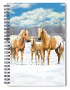 Palomino Appaloosa Horses In Winter Spiral Notebook
