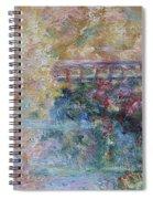 Birds Boaters And Bridges Of Barton Springs - Autumn Colors Pedestrian Bridge Spiral Notebook