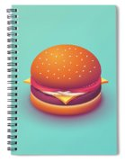 Burger Isometric - Plain Mint Spiral Notebook