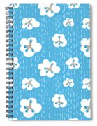 Clouds And Methane Molecules Pattern Spiral Notebook