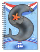 S Is For Seal And Starfish Spiral Notebook