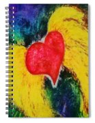 A Free Heart Aqua And Purple Spiral Notebook