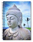 Go Where You Feel Most Alive Hawaiian White Buddha Spiral Notebook