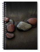Black Sand Stones Spiral Notebook